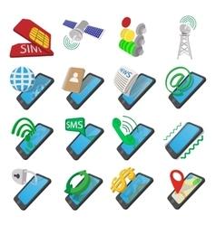 Phone cartoon icons vector