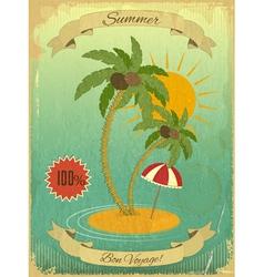 Retro vintage grunge summer vacation postcard vector