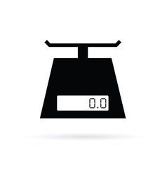 Scales digital for food in black vector