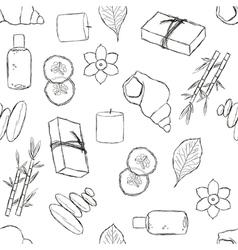 Seamless spa pattern vector