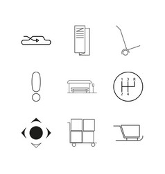 Transport and transportation linear icon set vector