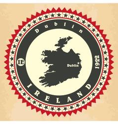 Vintage label-sticker cards of ireland vector