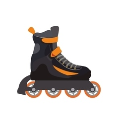 roller skate shoe sport hobby icon graphic vector image
