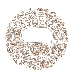 Beer icons with place for text vector