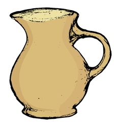 Ceramic pot vector