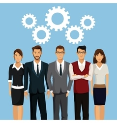 Business people teamwork collaboration vector