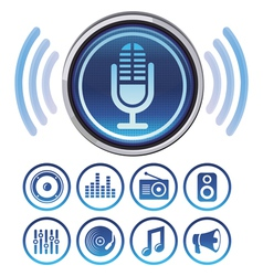 podcast icons vector image
