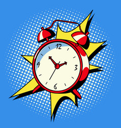 Alarm clock ring comic book style vector