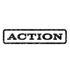 Action watermark stamp vector