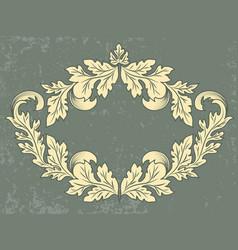 vintage frame with grunge background vector image