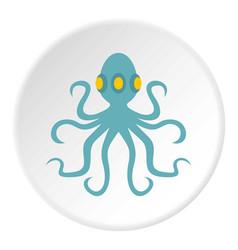 Octopus icon circle vector