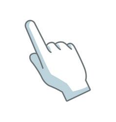Hand pointing cursor finger symbol vector
