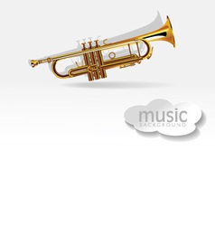 Trumpet on white background vector