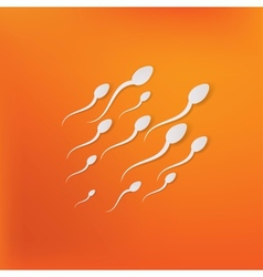 Spermatozoons floating to ovule vector