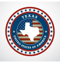 Vintage label texas vector