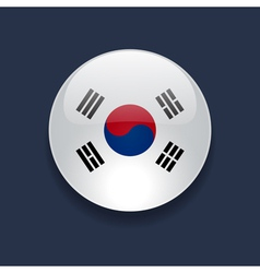 Round icon with flag of south korea vector