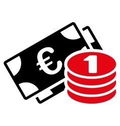 Euro money icon vector
