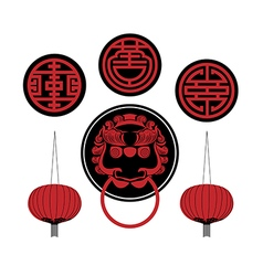 ChineseObjects preview vector image