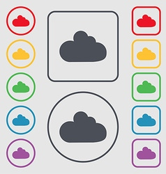Cloud sign icon data storage symbol symbols on the vector