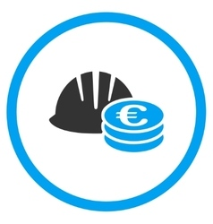 Euro developer earnings icon vector
