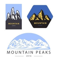 Mountain adventure and expedition logo vector