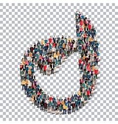 Abstract business symbol people transparency vector
