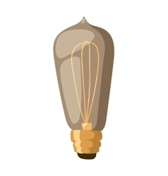 Old retro lamp vector