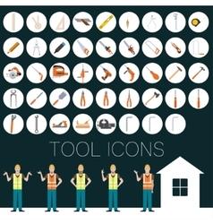 Repair tool icons vector