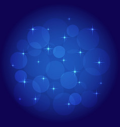Abstract background with bokeh blue vector