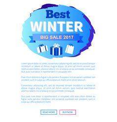 best winter sale 2017 label design presents gifts vector image vector image