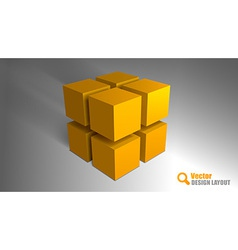 cube orange vector image vector image