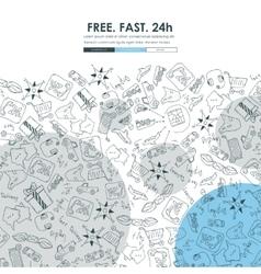 delivery Doodle Website Template Design vector image vector image