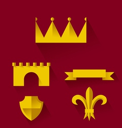 Design of heraldic symbols and elements vector