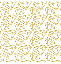 Diamonds seamless pattern girly background vector