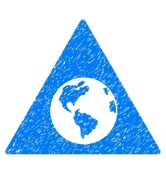 Earth warning grainy texture icon vector