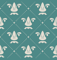 floral royal vintage background pattern vector image vector image