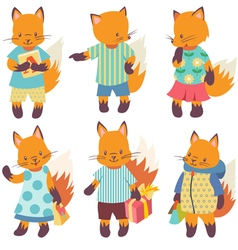 Foxes vector image vector image