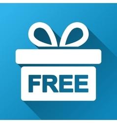Free gift box gradient square icon vector