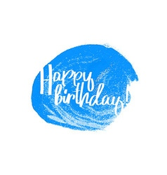 Happy birthday blue vector