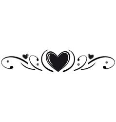 Hearts border vector