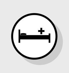 Hospital sign flat black vector