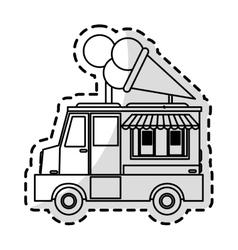 Ice cream car icon vector