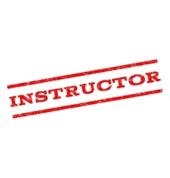 Instructor watermark stamp vector