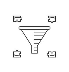 internet marketing concept sale funnel vector image vector image