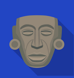 Mayan mask icon in flat style isolated on white vector