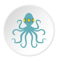 Octopus icon circle vector