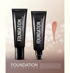 realistic cosmetic product template vector image