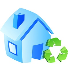 Save home symbol vector image vector image