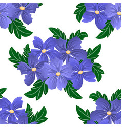 Seamless flower pattern on white background vector