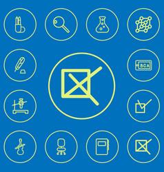 Set of 12 editable teach outline icons includes vector